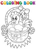 Kolorystyki książka z Wielkanocnym tematem 8 Obrazy Royalty Free