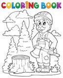 Kolorystyki książki lumberjack temat 1 Fotografia Royalty Free