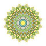 Kolorystyki mandala zieleń royalty ilustracja