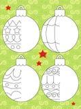 Kolorystyki strona z wzorem - ilustracja dla dzieciaków Zdjęcie Royalty Free