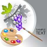 kolorystyki winogrono Zdjęcia Royalty Free