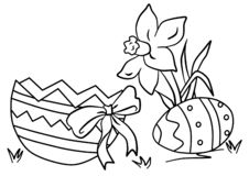 Koloryt daffodils, jajeczna skorupa z łękiem ilustracji