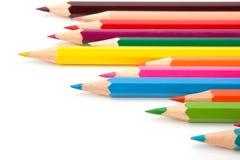 Koloryt kredki ołówki Zdjęcie Royalty Free