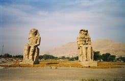 kolosa Egypt Luxor memnone Obraz Royalty Free