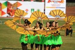 Kolosalna taniec historia założenie Surakarta Zdjęcia Stock