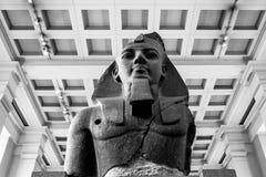 Kolosalny popiersie Ramesses II przy British Museum Londyn, Engl obrazy royalty free