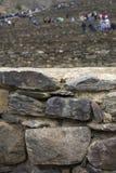 Kolosalny sanktuarium Ollantaytambo w Peru zdjęcie stock