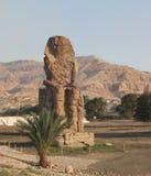 Koloss av Memnon, Västbank, Luxor, Egypten royaltyfria foton