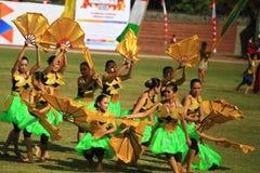 Kolossale Dansgeschiedenis de totstandbrenging van Surakarta Stock Afbeeldingen