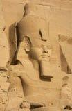 Kolossale Statuen von Ramses II, Abu Simbel, Ägypten Stockbild
