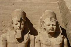 Kolossales Statuedetail Abu Simbel am Tempel Lizenzfreie Stockfotos
