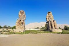 Kolossen van Memnon Stock Foto's