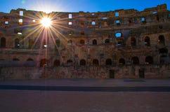 Kolosseum-mittleres Alter Stockbild