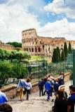 Kolosseum od Romańskiego forum włochy Rzymu Obraz Royalty Free