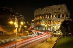 Kolosseum przy noc Obraz Stock