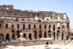 Kolosseum Tunesien stockfotos