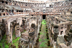 kolosseum wśrodku rzymskiego widok Obrazy Royalty Free