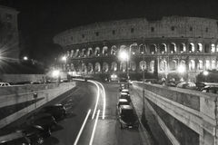 Kolosseumu Rzym Włochy miejsca Czarny I Biały Turystyczny budynek Obrazy Stock