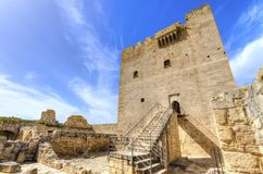 Kolossi,利马索尔,塞浦路斯中世纪城堡  库存图片
