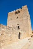 Замок Kolossi средневековый Стоковые Фото