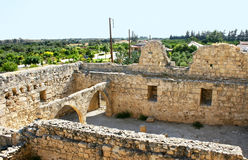 Kolossi castle. Strategic important fort of Medieval Cyprus,fine example of military architecture,originally built in 1210 by Frankish military,rebuilt in 1454 Stock Photography