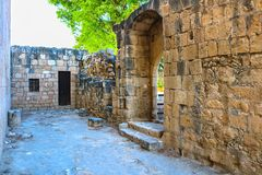 Ruins of Kolossi castle near Limassol, Cyprus royalty free stock images