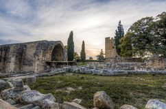 Kolossi middeleeuws kasteel in LimassoL, Cyprus royalty-vrije stock foto