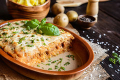 Kolozsvari Kaposzta - Varza un la Cluj - col amarga acodada con la carne picadita y el arroz, rematados con crema agria imagen de archivo libre de regalías