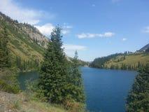 kolsay озеро стоковое изображение rf