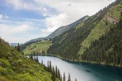 Kolsay halny jezioro w Kazachstan Fotografia Royalty Free