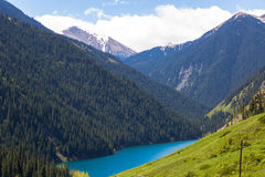 Kolsay jezioro w shan górach, Kazachstan Zdjęcia Royalty Free