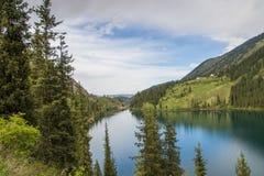 Kolsay jezioro w Tien shanu halnym systemu, Kazachstan Zdjęcia Royalty Free