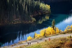 Kolsay Lake in  Kazakhstan Royalty Free Stock Photography