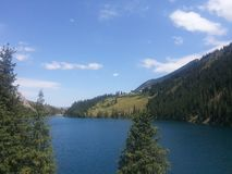Kolsay lake stock photography