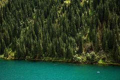 Kolsay Lake in Tien-Shan mountain, Kazakhstan Royalty Free Stock Photo
