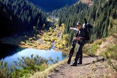 Kolsay See in Kazakhstan stockbild