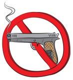 Kolta pistoletu pozwolić znak Zdjęcie Stock
