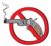 Kolta pistoletu pozwolić znak Zdjęcie Royalty Free