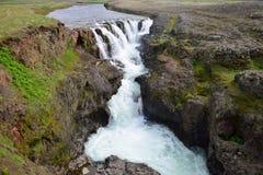 Kolufossar, a waterfall in Iceland at the Kolugljufur canyon stock photo