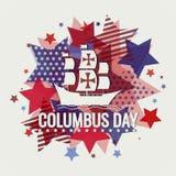 Kolumb dnia tło lub karta Royalty Ilustracja