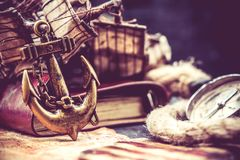 Kolumb i eksploracja obraz stock