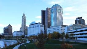 Kolumb, Ohio centrum miasta na jasnym spadku ranku Obrazy Stock