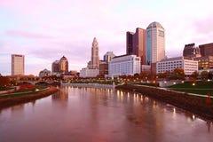 Kolumb, Ohio centrum miasta przed wschodem słońca Zdjęcie Royalty Free