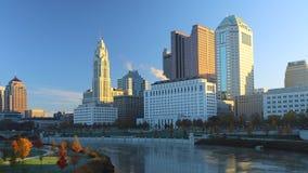 Kolumb, Ohio linia horyzontu na pięknym ranku Zdjęcie Stock