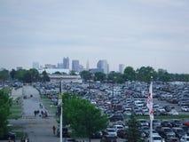 Kolumb, Ohio przez Mapfre stadium zdjęcia royalty free