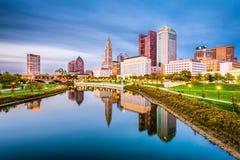Kolumb, Ohio, usa linia horyzontu fotografia royalty free