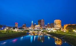 Kolumb, Ohio, usa 9-11-17: piękna Columbus linia horyzontu obraz royalty free