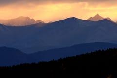 kolumbia brytyjska sceniczni północni Rockies fotografia stock