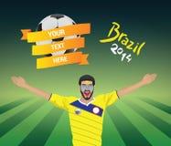 Kolumbia fan piłki nożnej Obraz Stock