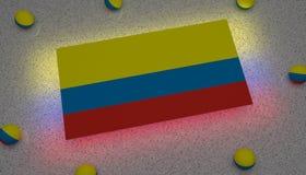 Kolumbia flaga czerwony błękitny kolor żółty ilustracji